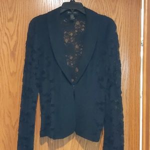 INC lacey black blazer
